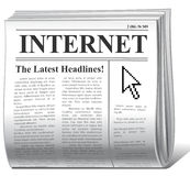 Newspaper. Vector newspaper as inet news icon royalty free illustration