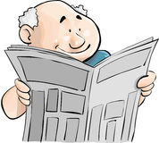 Newspaper. A man reading a newspaper