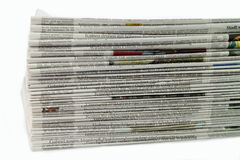 Newspaper. German newspaper stack on white background Stock Photography