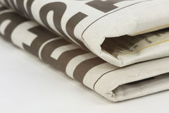 Newspaper. Stack isolated on a white background Royalty Free Stock Photography