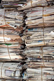 Newspaper. Stacks of indian newspapers. Paper recycling Stock Photo