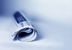 Newspaper. Close up with a newspaper Royalty Free Stock Images