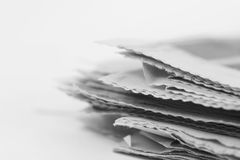Newspaper. Stack close up shot Royalty Free Stock Images