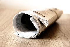 Newspaper. A newspaper on the table Stock Images