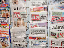Newspaper. Some newspaper at traditional romanian festival called Gaudeamus ,organized at Romexpo between 18 and 22 November