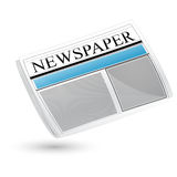 Newspaper. Illustration of newspaper sign on white background Royalty Free Stock Photo
