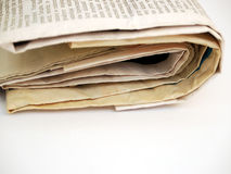 Newspaper #2. On white background royalty free stock photo