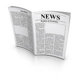 Newspaper. 3d rendered image : Open Newspaper Royalty Free Stock Photos