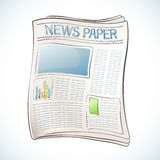 Newspaper. Illustration of business newspaper on abstract background Stock Images