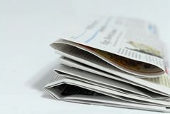 Newspaper. An newspaper waiting to read royalty free stock photography