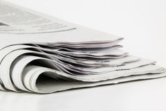 Newspaper. Pile of newspaper with copy space for your massage royalty free stock images