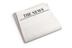 Newspaper. Blank Newspaper with white background Stock Image