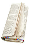 Newspaper. Isolated Stock Photos