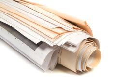 Newspaper. Fresh Newspaper on White background Royalty Free Stock Photography