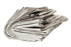 Newspaper. An newspaper waiting to read Royalty Free Stock Photo