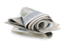 The daily newspaper Royalty Free Stock Images