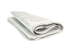 Newspaper. Isolated on white background Royalty Free Stock Photos