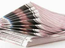 Newspaper. Isolated on white background stock image