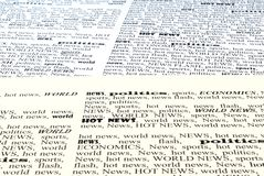 The newspaper. We take all news, newspapers background closeup royalty free stock images
