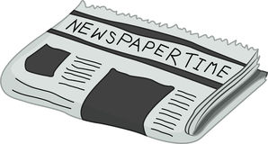 Newspaper vector illustration