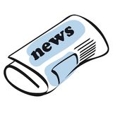 Newspaper icon vector stock photography