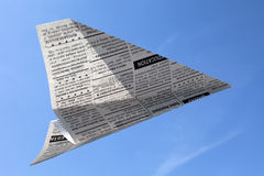 Newspaper Airplane Stock Photos
