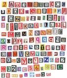 Newspaper alphabet Royalty Free Stock Photo