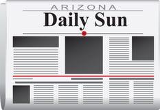 Newspaper arizona daily sun Royalty Free Stock Image