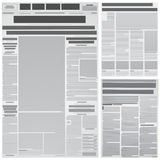 Newspaper background Stock Photo