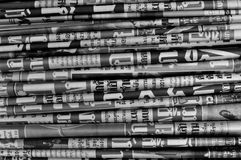 Newspaper background. A stack of newspaper Stock Image