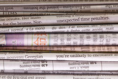 Newspaper background. Stock Images