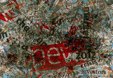 Newspaper background dirty print texture Stock Photography