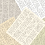 Newspaper background. Background of pages of vintage newspapers. vector illustration Stock Images