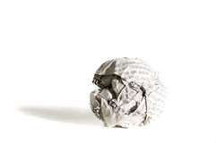 Newspaper ball Stock Photo