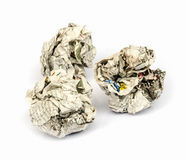 Newspaper ball. Royalty Free Stock Images