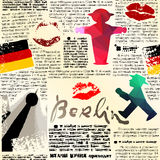 Newspaper Berlin with Ampelmans. Royalty Free Stock Photography