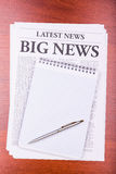 The newspaper BIG NEWS Stock Photos