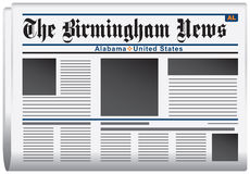 Newspaper Birmingham News Alabama Royalty Free Stock Image