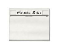 Newspaper blank template. Newspaper's front page template with full blank space you can put your customized into Stock Illustration
