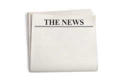 Newspaper. Blank Newspaper with white background stock images