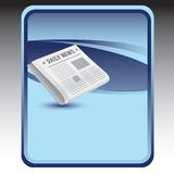 Newspaper on blue background Stock Image