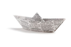 Newspaper boat Royalty Free Stock Photography
