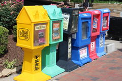 Newspaper Boxes Royalty Free Stock Images