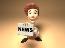 Newspaper boy Royalty Free Stock Photos