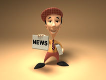 Newspaper boy Stock Photo