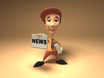 Newspaper boy Stock Photo