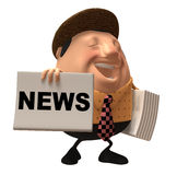 Newspaper boy Stock Images