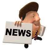 Newspaper boy Royalty Free Stock Images