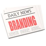 Newspaper branding Stock Photos