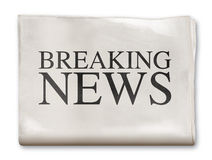 Newspaper Breaking News royalty free stock photo